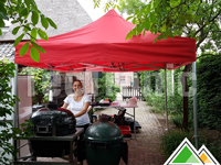 Rode easy-up partytent (BBQ Class)
