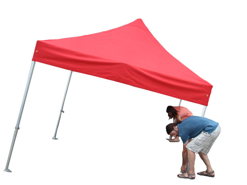 Staanders easy-up tent inschuiven