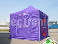 Easy-up tent 3x3 in eigen huisstijlkleur (Beobank)