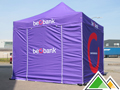 Full colour bedrukte 3x3 easy-up tent van Beobank