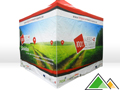 Easy-up tent 3x3 met full colour bedrukking POM West-Vlaanderen