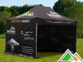 Gepersonaliseerde easy-up tent 3x4,5 m TecTronic Feesttenten