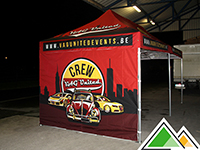 Full colour bedrukte 3x6 promotietent voor VAG United