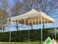 Easy-up tent van 4x4 m met beige dakzeil