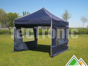 3x3 easy-up tent met 2 zijwanden