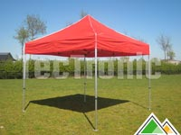 easy-up partytent rood