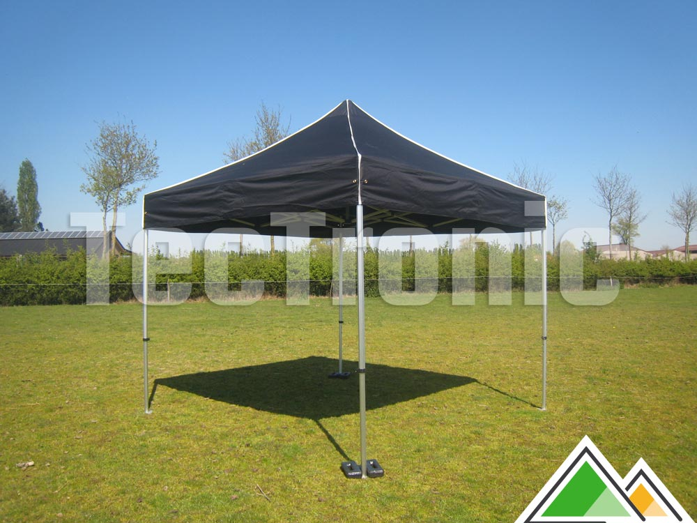 Easy-up tent zwart 3x3 Solid 40