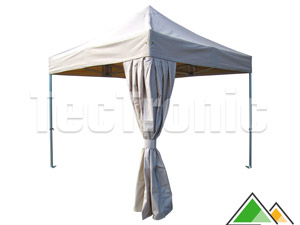 Easy-up tent met hoekgordijn